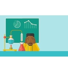 African-american science teacher in laboratory vector image