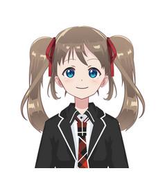 anime manga avatar schoolgirl vector image