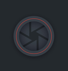 Aperture icon dark version vector