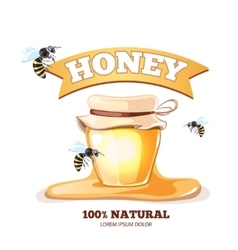 Apiary emblems vector image