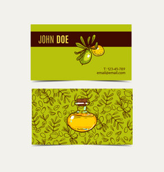 Argan business cards eco style in natural colo vector