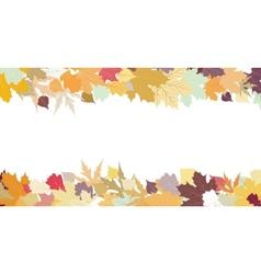 Autumn leaf border vector