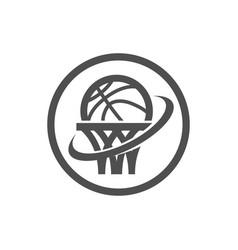 Basketball net logo icon vector