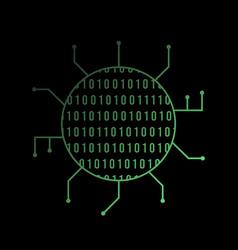 binary code bright icon icon isolated vector image