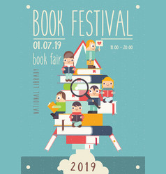 Bookstore poster vector
