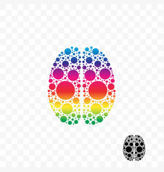 brain smart logic mind idea logo vector image