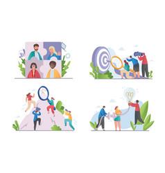 brainstorming business concept for teamwork set vector image