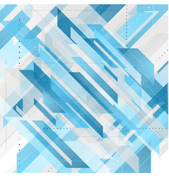 Bright blue abstract tech geometric background vector