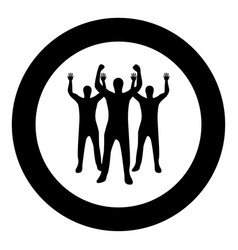 business people icon black color in circle vector image