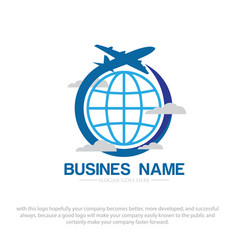 Business travel logo designs vector