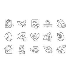 capsule pill quarantine and oculist doctor icons vector image