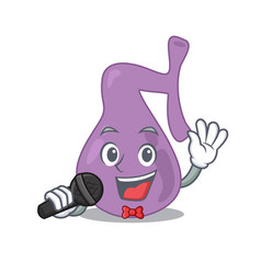 Cartoon character gall bladder sing a song vector