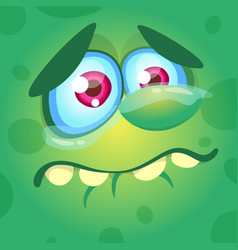 Cartoon monster face crying vector