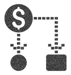 Cashflow Scheme Grainy Texture Icon vector image