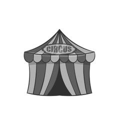 Circus tent icon black monochrome style vector image