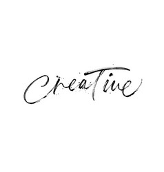 creative phrase modern brush calligraphy vector image