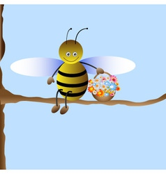 Cute cartoon bee vector