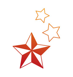 Decorative stars isolated icon vector