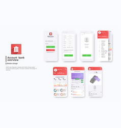 design mobile app ui ux a set gui vector image