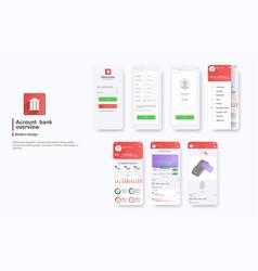 Design mobile app ui ux a set gui vector