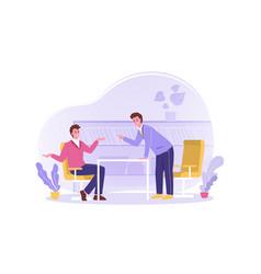 Discussion arguing quarrel reprimand business vector