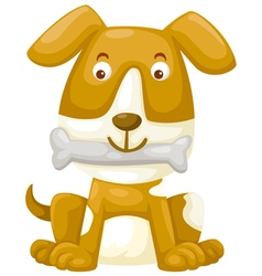 Dog with bone vector