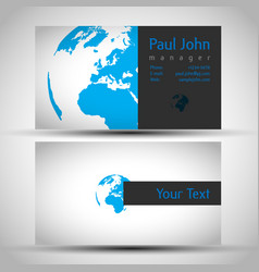 earth business-card front and back vector image
