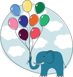 elephant balloons vector image