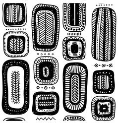 Ethnic quadrangle seamless pattern vector