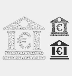 Euro bank building mesh network model and vector