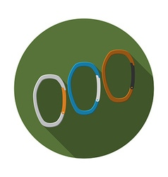 Flat design modern of carabiner icon camping vector image