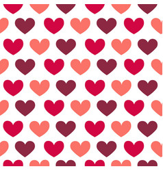 flat stvalentine s day pattern with hearts vector image
