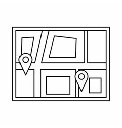 Geo location of taxi icon outline style vector