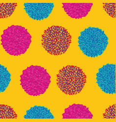 geometric pom pom repeating pattern in vector image