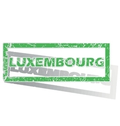 Green outlined Luxembourg stamp vector