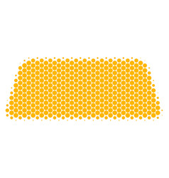 Halftone dot treasure brick icon vector