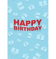 Happy Birthday card gift pattern vector