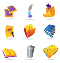 Icons for stationery vector image
