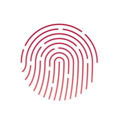 id app icon fingerprint vector image