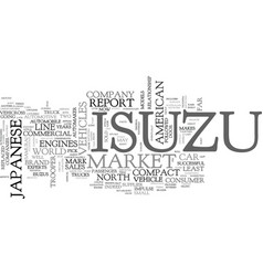 Isuzu corporate overview text background word vector