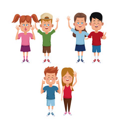 kids friends cartoon vector image