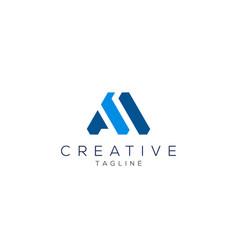 Letter a logo modern minimalist a logo vector