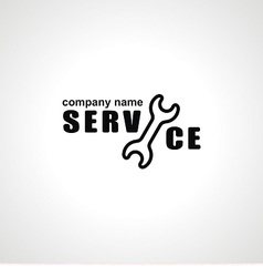 logo with spanner for service vector image