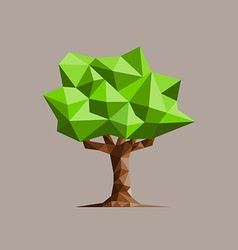 Low poly tree vector