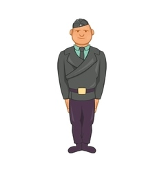 Man in a police uniform icon cartoon style vector image