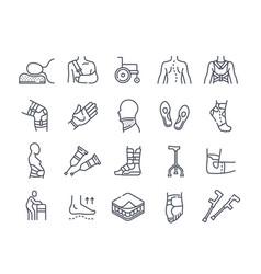 Medical orthopedic icons vector