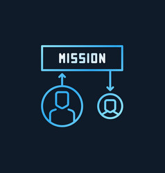 mission colored icon in outline style vector image