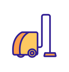 Modern vacuum cleaner icon isolated vector