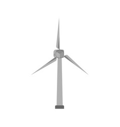 modern windmill isolated vector image