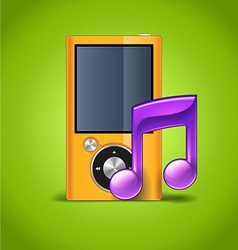 MP3 Player And Note vector